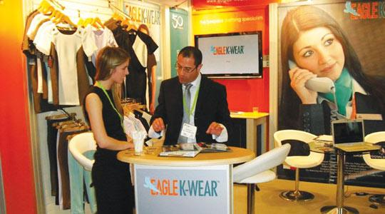 Exhibition Stand Builders Coventry : Eagle k wear participates in international trade shows