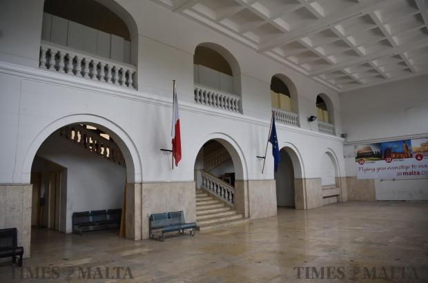 The interior of the old Malta International Airport in Luqa on May 15. Photo: Mark Zammit Cordina