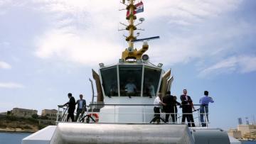 Innovative double-bow Damen tug visits Malta