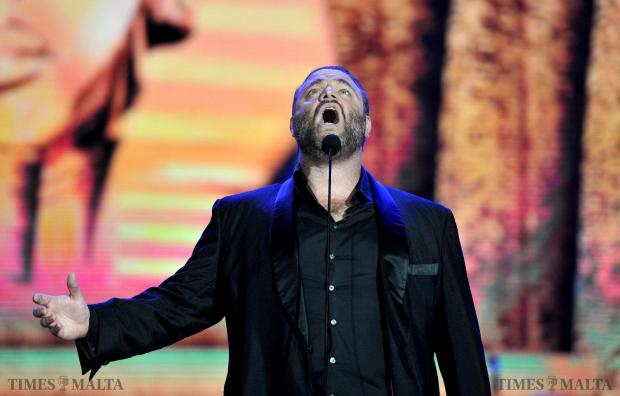 Joseph Calleja sings at the Luxol grounds on August 3. Photo: Chris Sant Fournier
