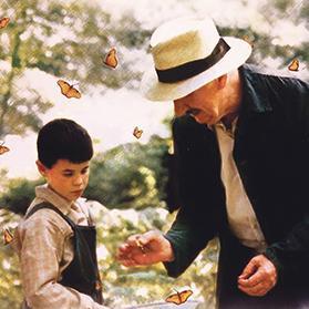 Fernando Fernan Gomez and Manuel Lozano in La Lengua de las Mariposas (1999).