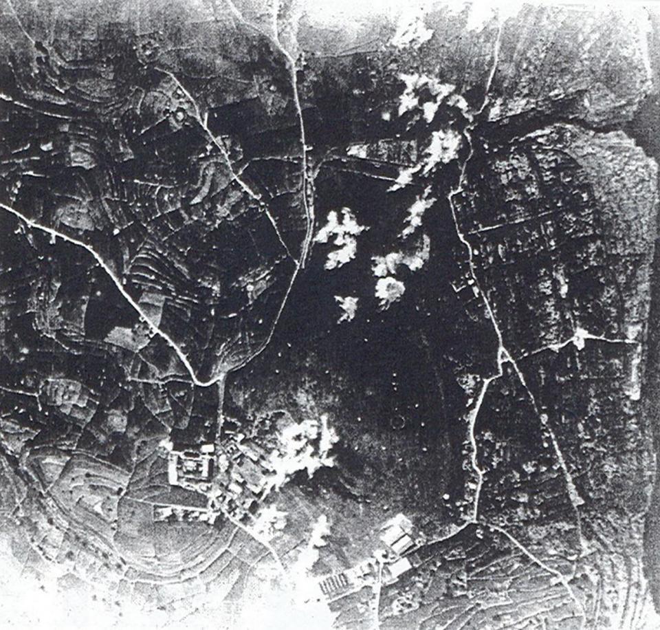 Ħal Far airfield under attack.