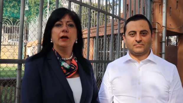 Naxxar Mayor Anne Marie Muscat Fenech Adami (left) and councillor Marlon Brincat.