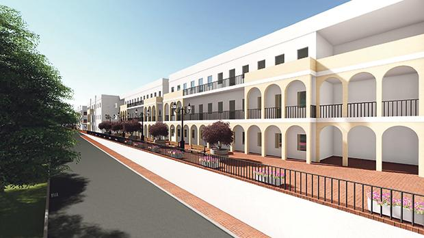 An artist's impression of the new extension.