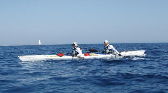 Kayaking for cancer sufferers... Albert Gambina and Dorian Vassallo both love adventure, danger and the endurance element, and are driven enough to paddle 180 nautical miles.