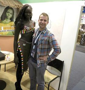 The author meets the towering Miss World finalist.
