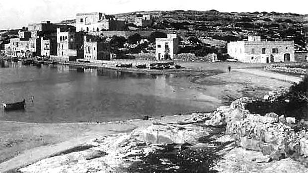 This photo, taken around 1885, shows the earliest buildings in Marsascala.