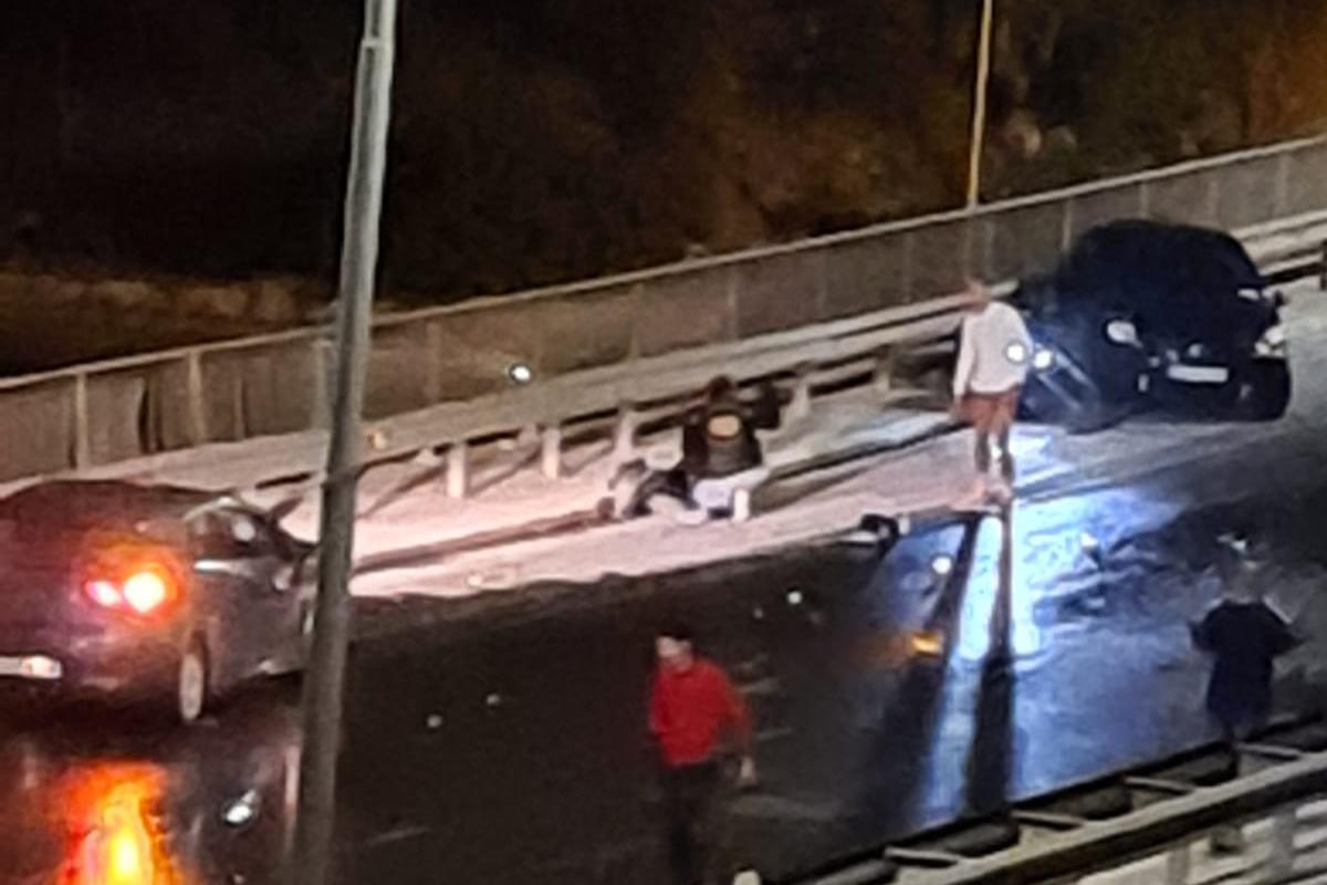 The scene at the crash site (Photo Mark Debattista - Facebook Times of Malta)