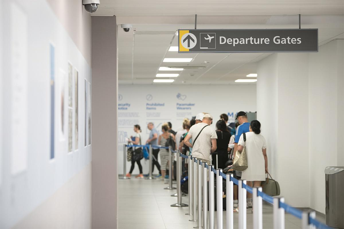 The airport has devised a health and safety plan to protect passengers and employees.