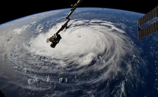 A NASA handout photo of Hurricane Florence as seen from the International Space Station.