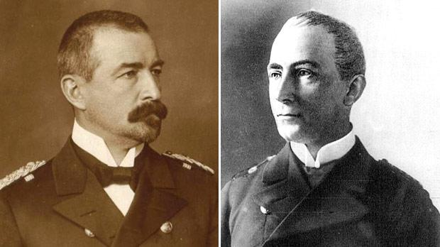 Rear Admiral Wilhelm Souchon. Photo: Private Collection – Wartenberg Trust. Right: The Captain of the SMS Emden Karl von Müller. Photo: www.gutenberg.org