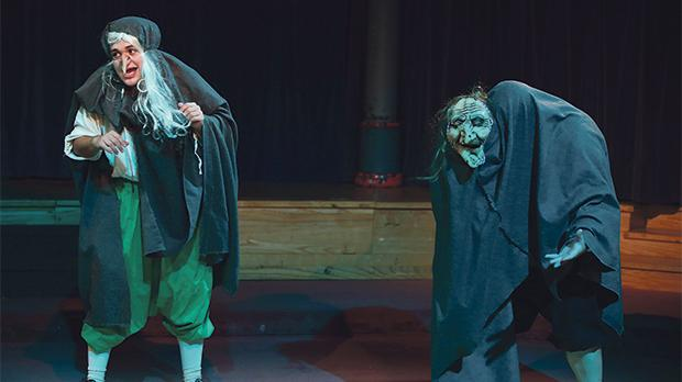 James Ryder and Nathan Brimmer as the Weird Sisters in William Shakespeare's Long Lost First Play. Photos: Christine Muscat Azzopardi