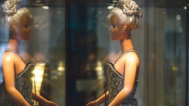 A Barbie doll wearing a filigree dress and handbag is at the heart of an exhibition currently on at the Ministry of Education and Employment.