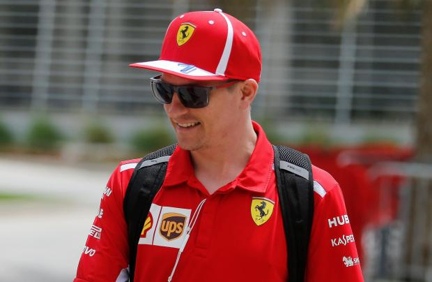 Kimi Raikkonen pipped his Ferrari team-mate Sebastian Vettel during practice at the Bahrain Grand Prix.