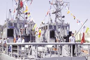 The two patrol boats donated to the Armed Forces of Malta by the US government.