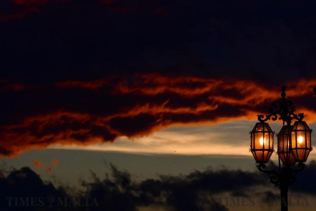 A beautiful ending sunset over Valetta on November 2. Photo: Jonathan Borg