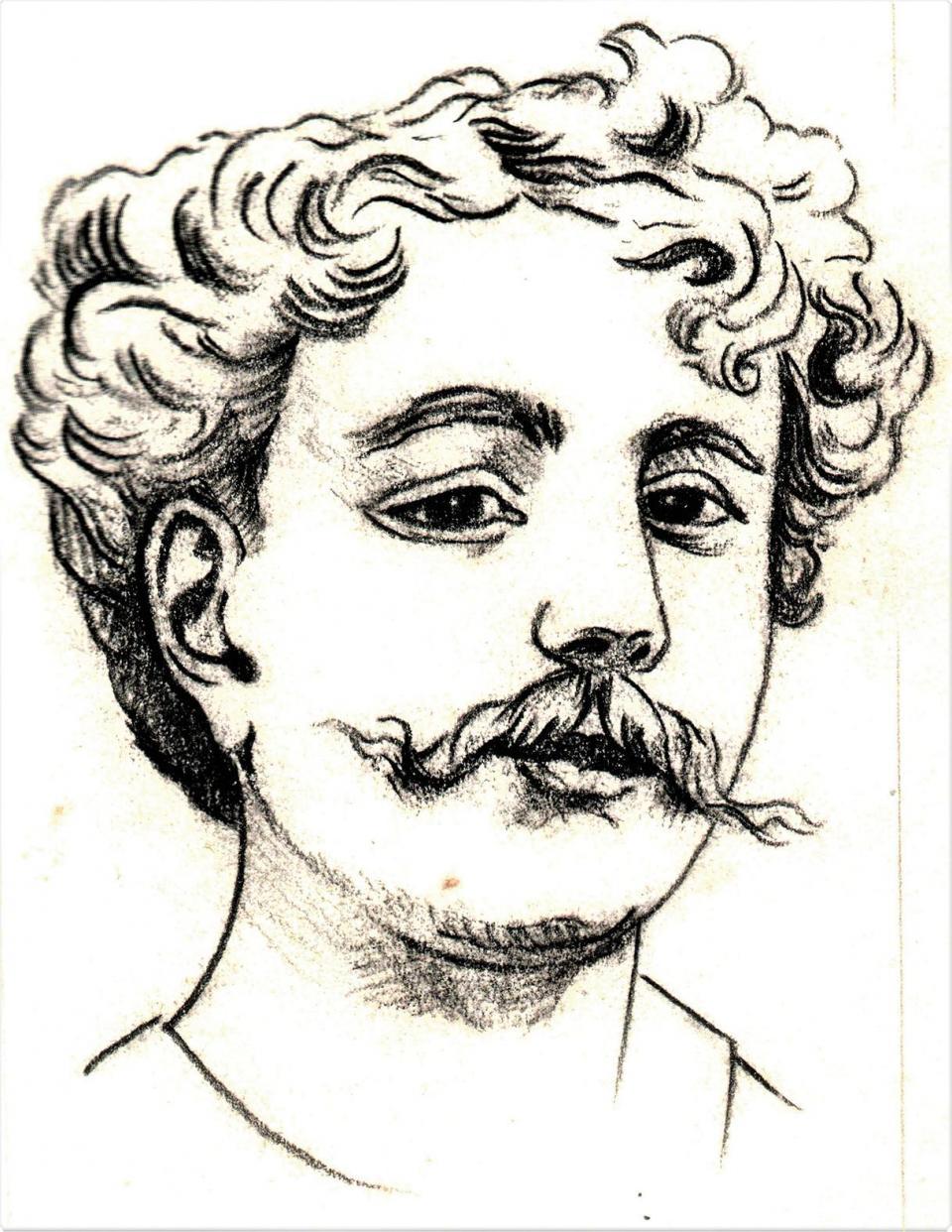 A 1914 drawing of Dimech by Salvu Astarita