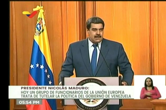 Maduro gives EU ambassador 72 hours to leave Venezuela