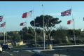 Union flags fixed after being hoisted upside down