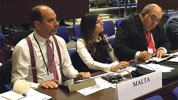 Godfrey Farrugia sponsored the resolution together with MPs Rosianne Cutajar (head of delegation) and Emanuel Mallia.