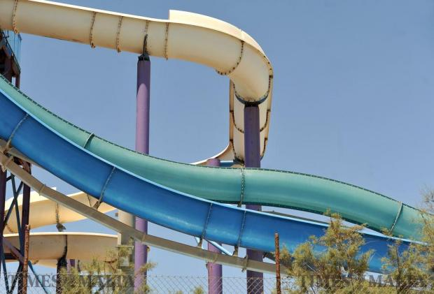A section of water slide at the Splash and Fun Park in Bahar ic-Caghaq on June 22. Photo: Chris Sant Fournier
