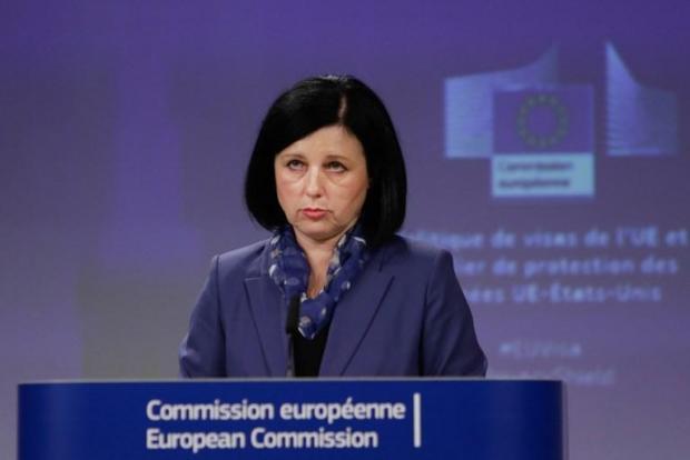 EU justice commissioner Vera Jourova.
