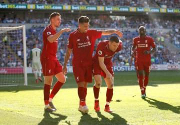 Liverpool back on top with win at Cardiff