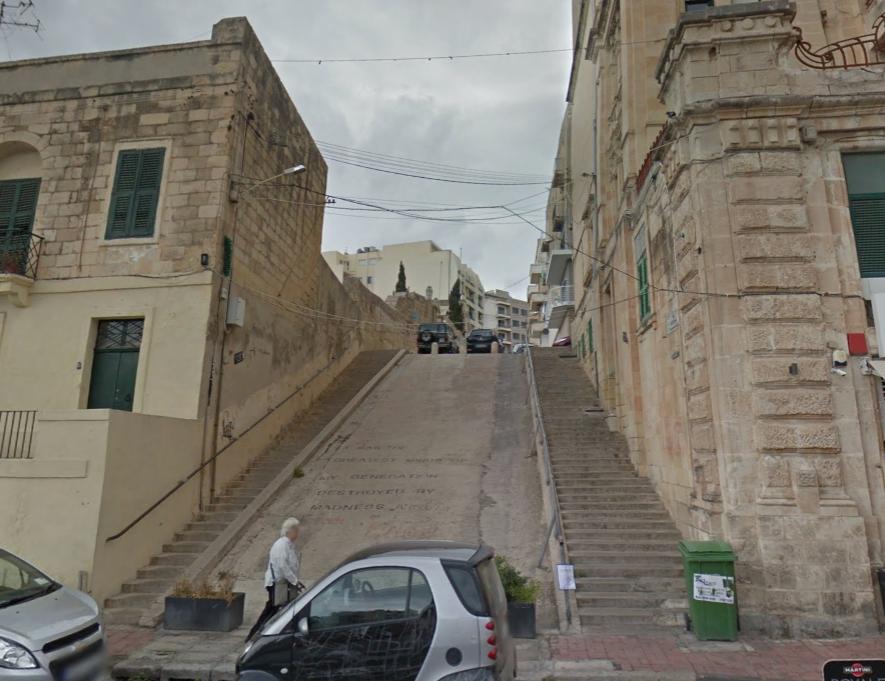 Joe Attard Kingswell pedestrian stairs now Photo: Google Maps