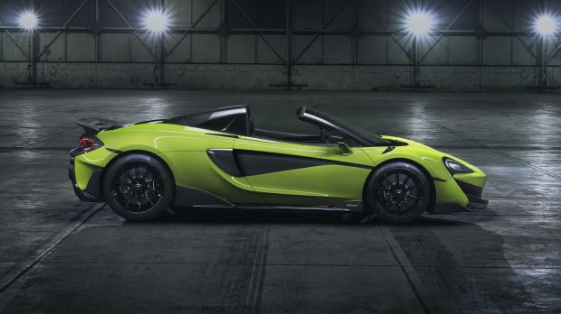 The drop-top supercar can hit 201mph flat-out.