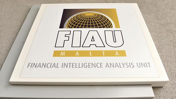 A sign outside the office of the Financial Intelligence Analysis Unit in Birkirkara. Photo: Chris Sant Fournier