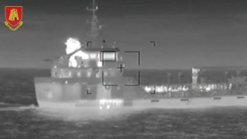 Malta's Armed Forces released video of the operation to take control of the El Hiblu 1. Video: AFM