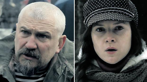 Left: Igor Parfenov and Ellen Slusarchi (right) in Once upon a time in Ukraine.