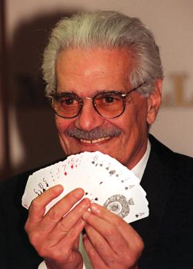 Film star Omar Sharif who passed away yesterday was quoted as saying he would rather play bridge than make a bad movie. Photo: PA Wire