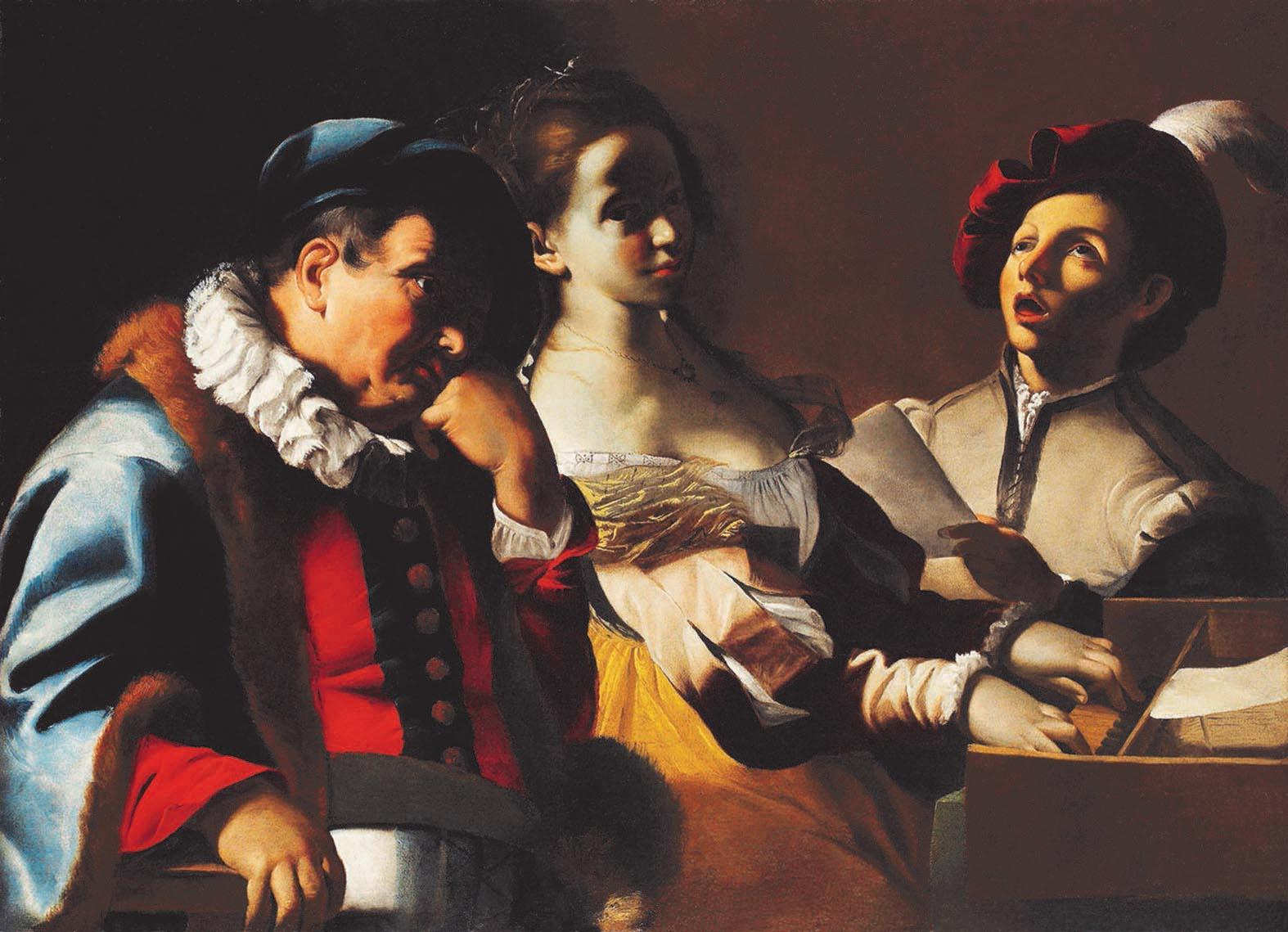 Concertino with clavicord player, private collection