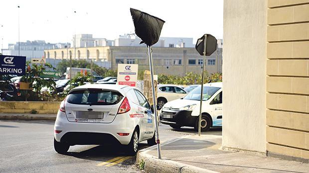 Haphazard parking is very common in the Mrieħel industrial area.