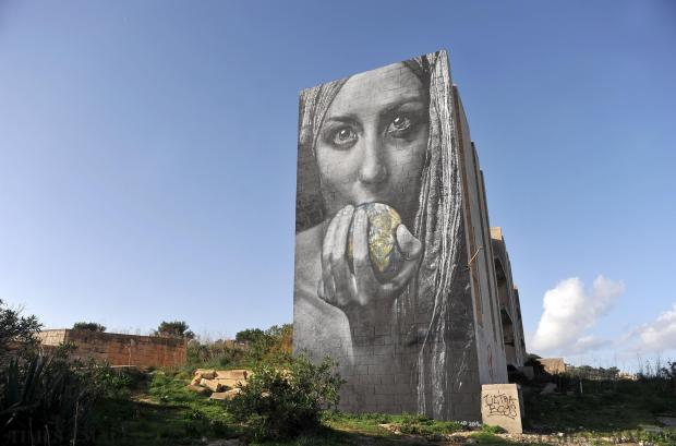 A mural at White Rocks is seen on December 17. Photo: Chris Sant Fournier