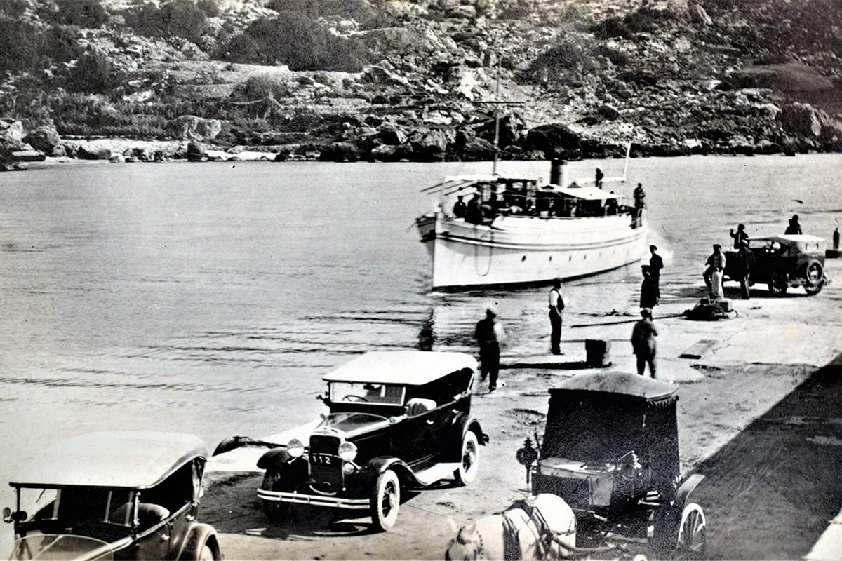 The arrival of the ferry boat at Mġarr Harbour, 1920s. Photo: Michele Farrugia
