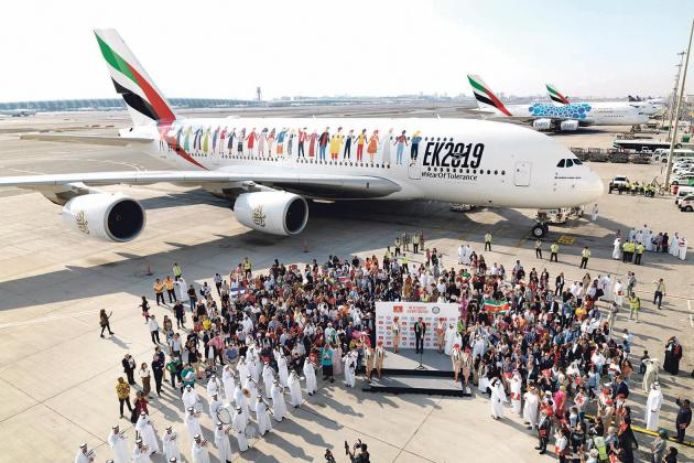 A kaleidoscope of cultures come together to make history on flight