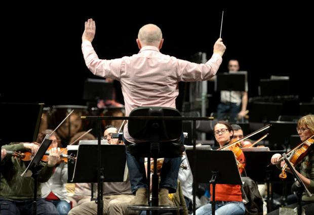 The Malta Philharmonic Orchestra rehearses under the baton of Peter Stark at the Manoel Theatre in Valletta on January 16, as part of the Valletta International Baroque Festival 2015. Photo: Matthew Mirabelli