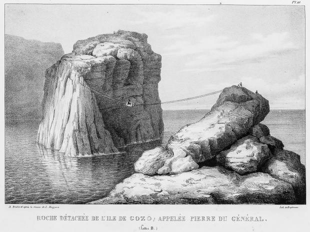 The General's Rock by Louis Mazzara (1827).