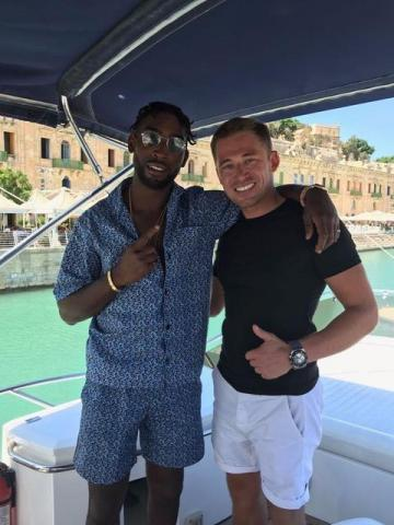 British rapper, singer and songwriter Tinie Tempah, with OceanLine managing director Daniel Ashforth.