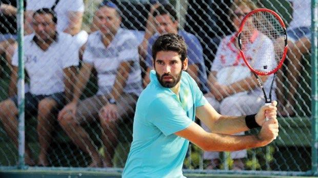 Matthew Asciak in action during the Malta Open at the Marsa Sports Club. Photo: Mark Asciak