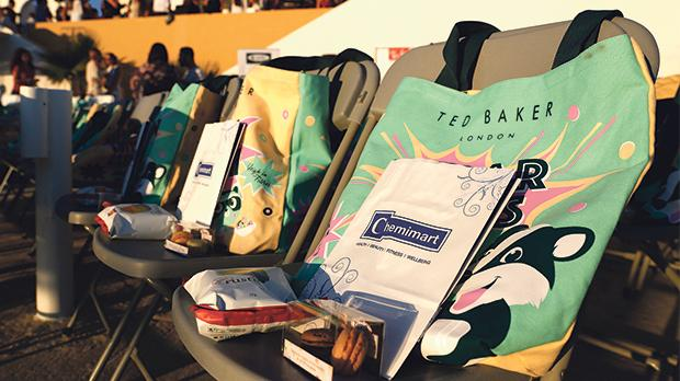 Guests were treated to goodie bags galore.