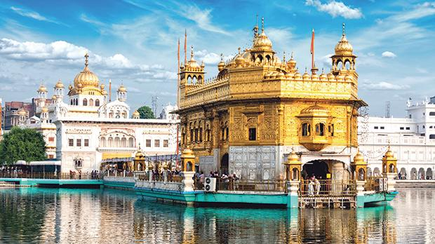The famous Sikh Gurdwara Golden Temple in Amritsar, Punjab, India.