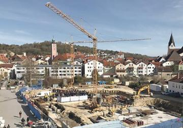 Groundbreaking for IBB Hotel in the centre of Eichstätt.
