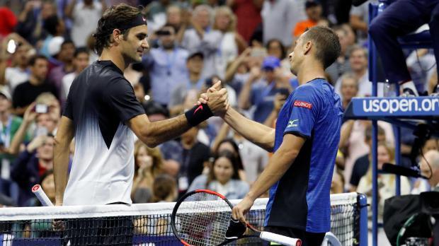 US Open: Del Potro saves match points to set date with Federer