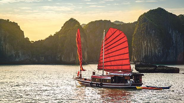 The wonderful Ha Long Bay in Vietnam, a Unesco world heritage site.