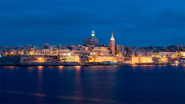 Valletta harbour at night. Photo: Matthew Calleja