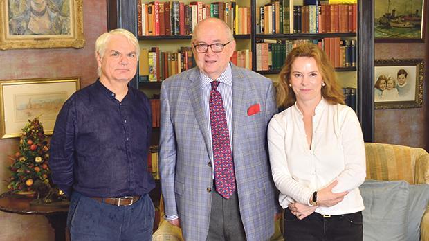 Alex Manché, Nicholas De Piro and Lucy Paterson.