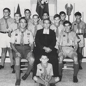 Group photo taken in the 1960s, when Charles Johnson was group scout master.